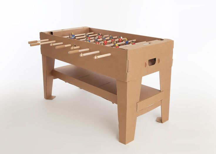 Kickertisch: Foosbal Tables, Tables Brown, Tables Design, Kartoni Football, Cardboard, Tischfußb Kartoni, Football Tables, Cardboard Foosbal, Kartoni Foosbal