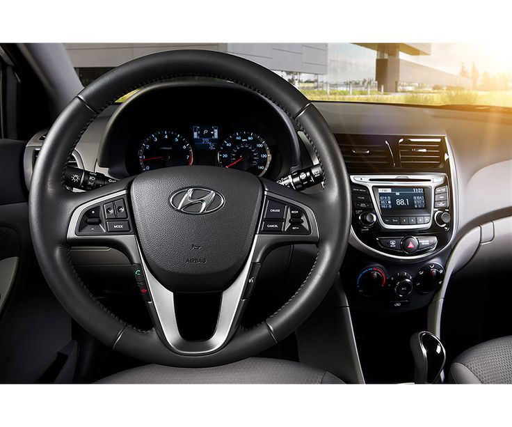 2017 Hyundai Accent dashboard