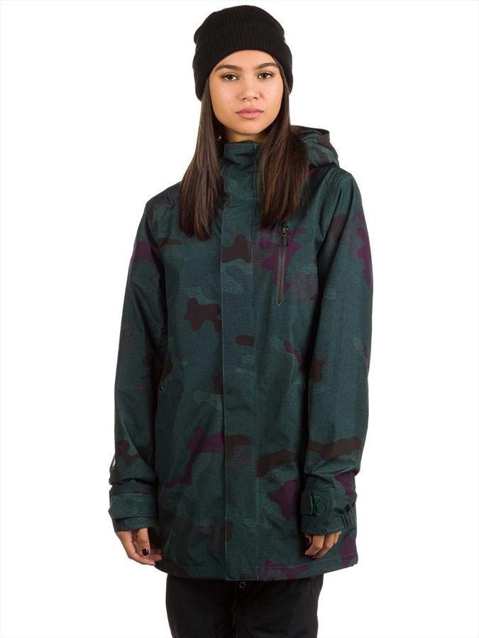 Volcom W Gore-Tex Jacket Women's Ski & Snowboard Jacket, S Dark Camo