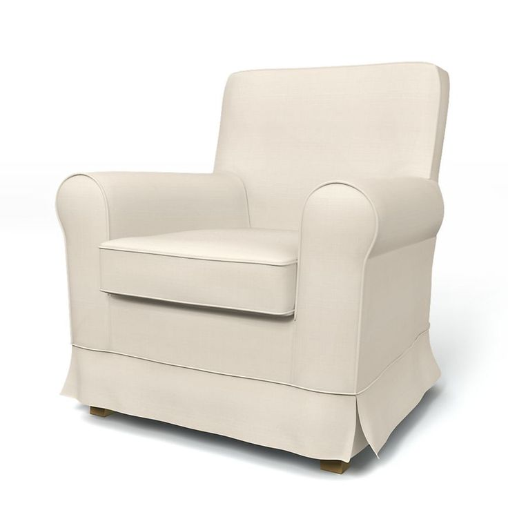 Jennylund, Armchair Covers, Armchair, Regular Fit with piping using the fabric Panama Cotton Absolute White
