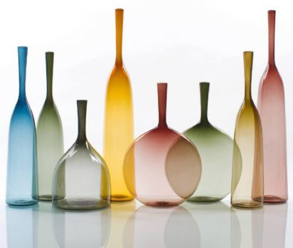Colored Glass Vases (72 pieces)
