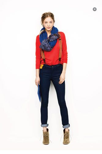 suspenders.Fashion, Style, Clothing, Madewell Fall, Outfit, 2011 Lookbook, Suspenders, Wear, Fall 2011