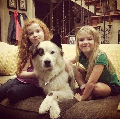 "Photo: Mia Talerico Visited With Francesca Capaldi At The ""Dog With A Blog"" Set November 8, 2013"