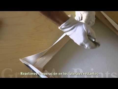 Montaje de #Impresión #Giclee sobre #Lienzo en #Bastidor - YouTube