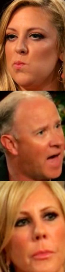 """Bravo's Three Incestuous O.C. Mooseketeers: (1) 3-Way Adulteress Vicki Gunvalson (2) F–king Wh@re, """"Beat"""" Her Brooks Ayers & (3) Ms. Marine, Briana Wolfsmith Married To Domestic Violencer Ryan Culberson [http://friendlydish.com/2013/08/09/ryan-culbersons-past-with-domestic-violence-is-revealed]"""