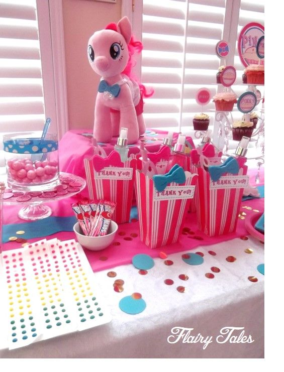 Pinky Pie inspired party (totally next years theme)