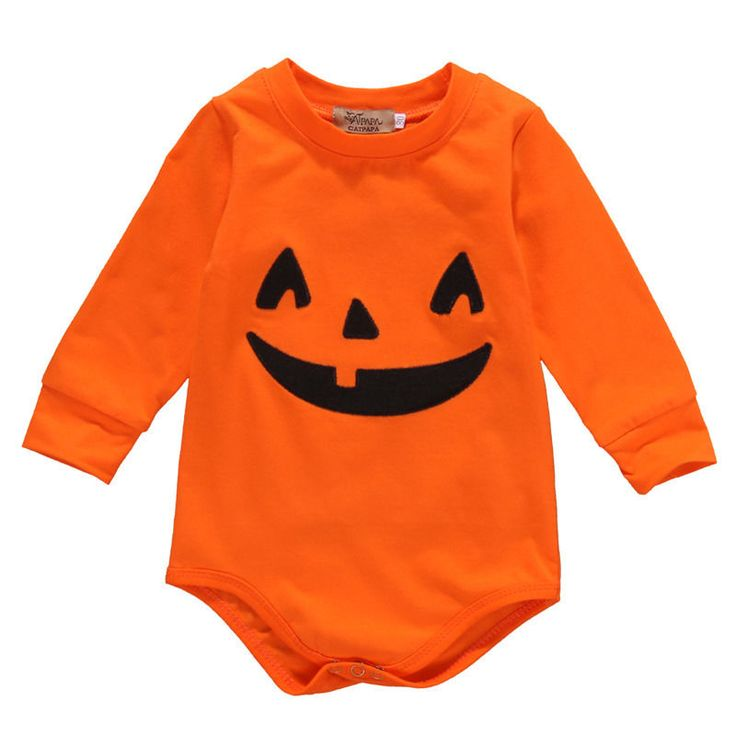 >> Click to Buy << 2016 Autumn Cute Newborn Baby Girls Boys Long Sleeve Romper Pumpkin Halloween Costume Outfits Rompers #Affiliate
