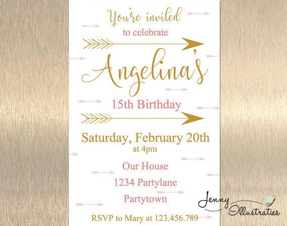The Best Teen Birthday Invitations Ideas On Pinterest - Birthday invitation card for teenage