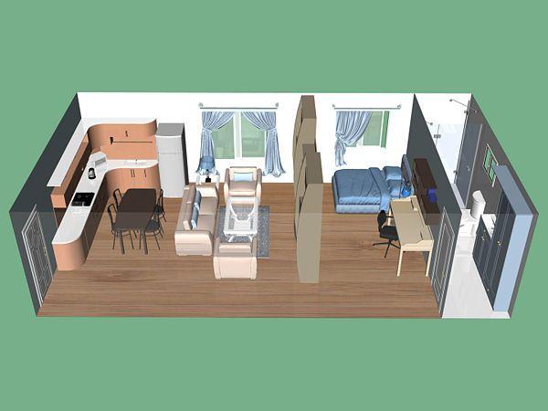 Studio Apartment Design Floor Plan 194 best studio apartment images on pinterest | small houses