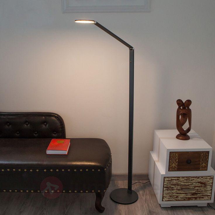 Lampadaire LED en aluminium Enes sicher & bequem online bestellen bei Lampenwelt.de.