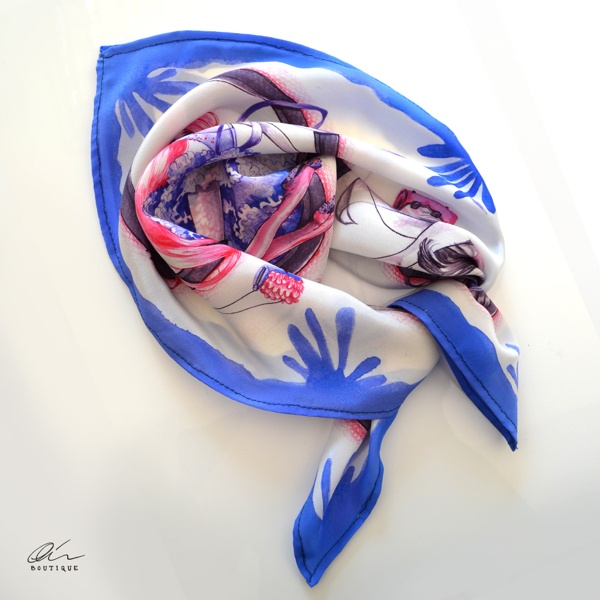 Spring Scarves by Alice R., via Behance