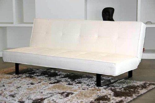 Kasper Wohndesign Lounge - Schlafsofa LOFT Giulia / weiß / Lederimitat: Amazon.de: Küche & Haushalt