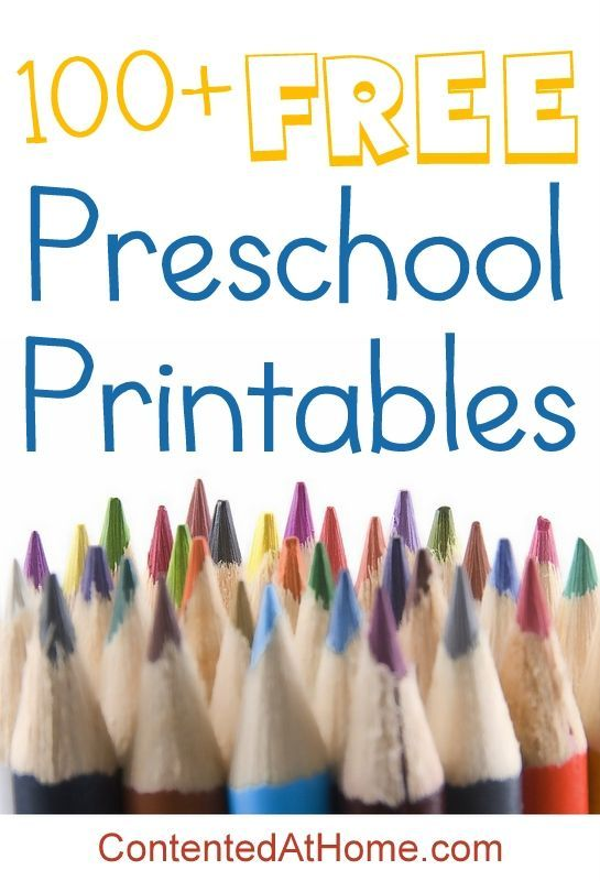 100+ FREE Preschool Printables - an awesome list of the very best free printables for preschool!