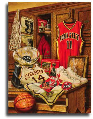 Iowa State Cyclones Legacy Basketball Sports Art Print