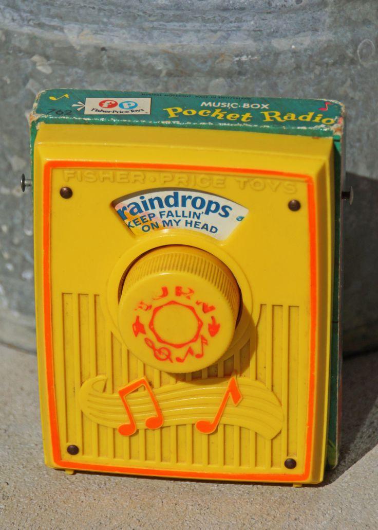 Play That Funky Music, Vintage Fisher Price Pocket Radio. $11.00, via Etsy.