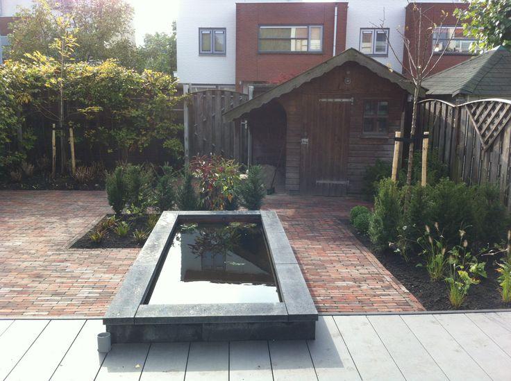 17 beste idee n over achtertuin ontwerpen op pinterest achtertuin patio patiodesign en - Bassin tuin ontwerp ...