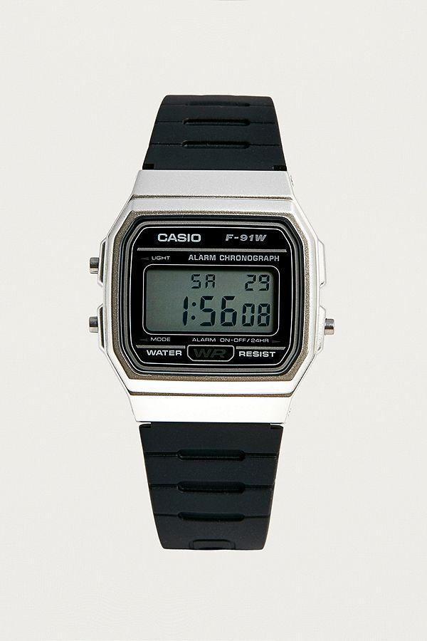 f670190eb3 Casio F91W-1 Black And Silver Watch | Casio | Casio, Watches ...