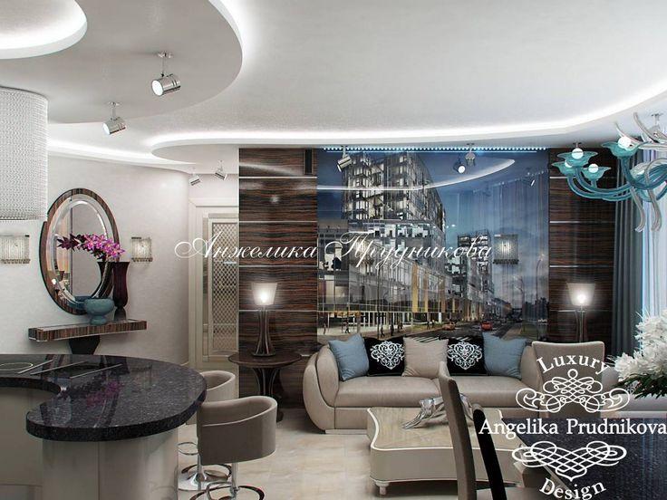 Современная квартира в стиле модерн в ЖК Легенда Цветного - фото