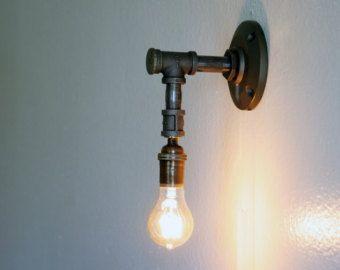 Muur licht industriële licht schans van WestNinthVintage op Etsy