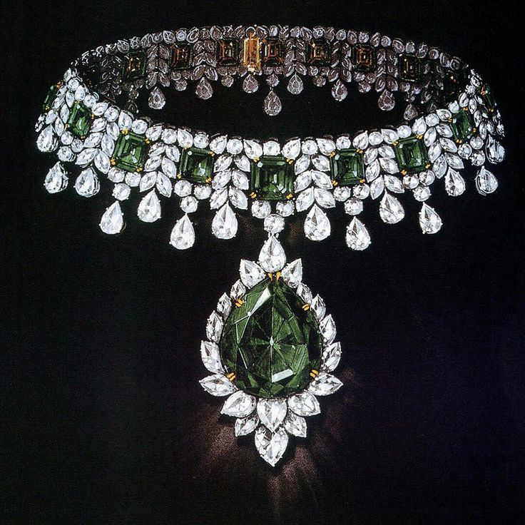 Harry Winston, #masterpiece #emerald #necklace
