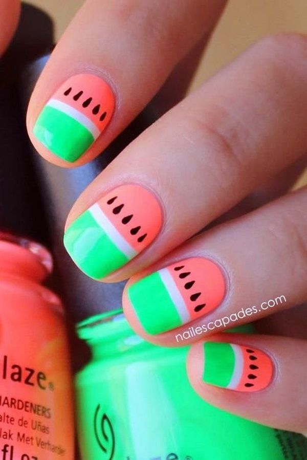 50 Vivid Summer Nail Art Designs and Colors 2016 - Latest Fashion Trends