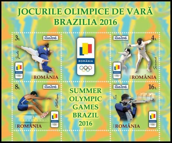 RIO Olympic Games 2016 stamps - Romania