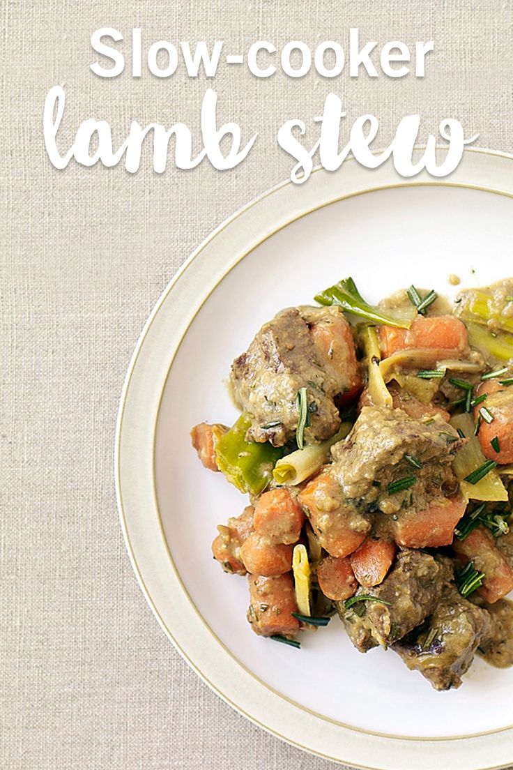 Short on time? Well this recipe isn't short on flavour! This slow-cooker recipe for lamb stew is a great way to cook a whole meal without even touching the stove.