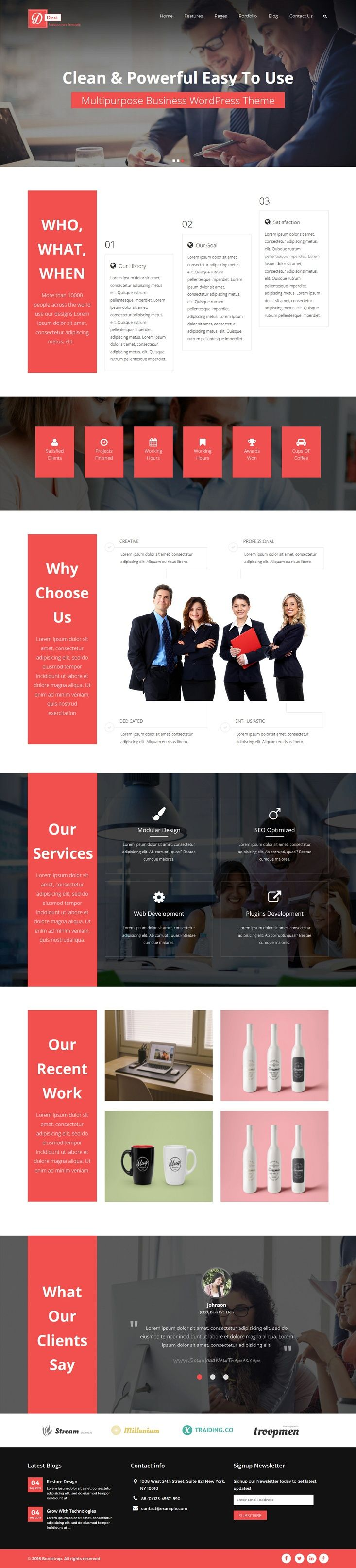 Dexi is a wonderful responsive #WordPress #theme for #webdesign business portfolio website with packed with complete solution for about us, blog, pricing, contact, coming soon, single portfolio page, single blog pages & multi column pages download now➩ https://themeforest.net/item/dexi-business-portfolio-wordpress-theme/13272309?ref=Datasata