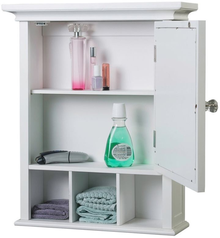 Medicine Cabinet Bathroom Vanity Mirror Door Bath Storage Organization White #ElegantHomeFashions