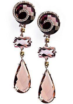 "Earrings: amethyst, smoky quartz, rhodolite, beryl, diamonds. ""The gold of Brazil,"" a collection of BRUMANI - 209 330 rubles"