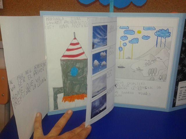 Projecte EL CEL. Pinzellada sobre els astronautes-els coets i els núvols-el cicle de l'aigua
