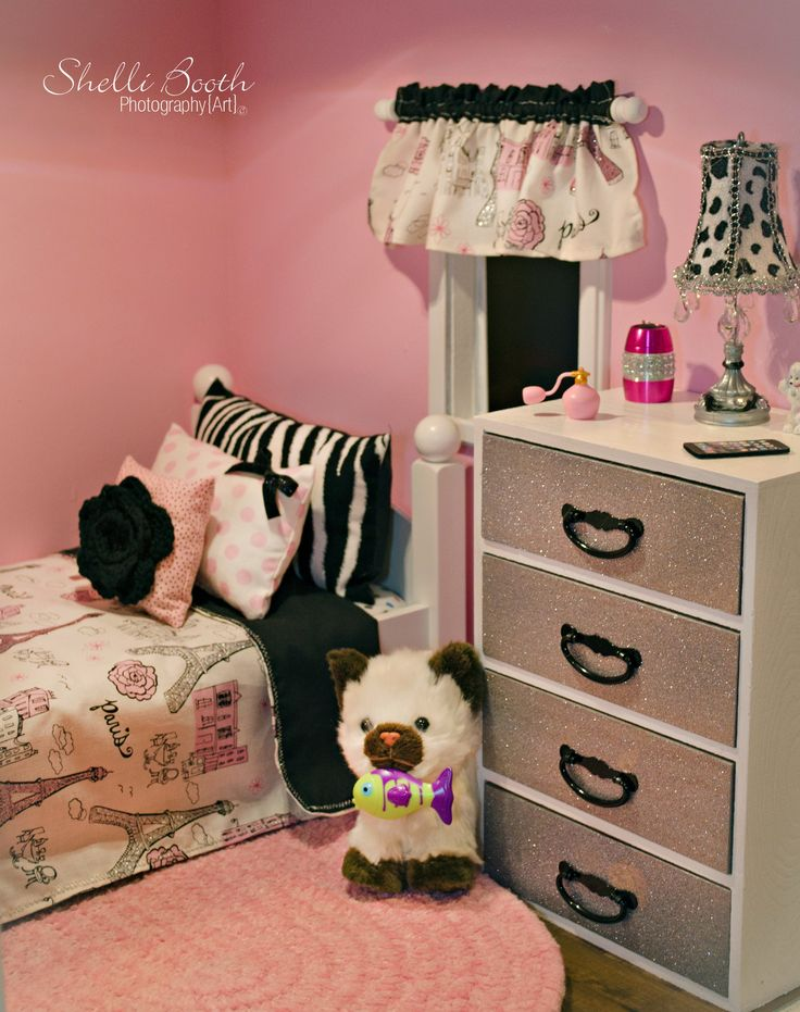 American Girl Doll House Paris Themed Bedrooms Shelli Booth Photography Art Copyright 2015