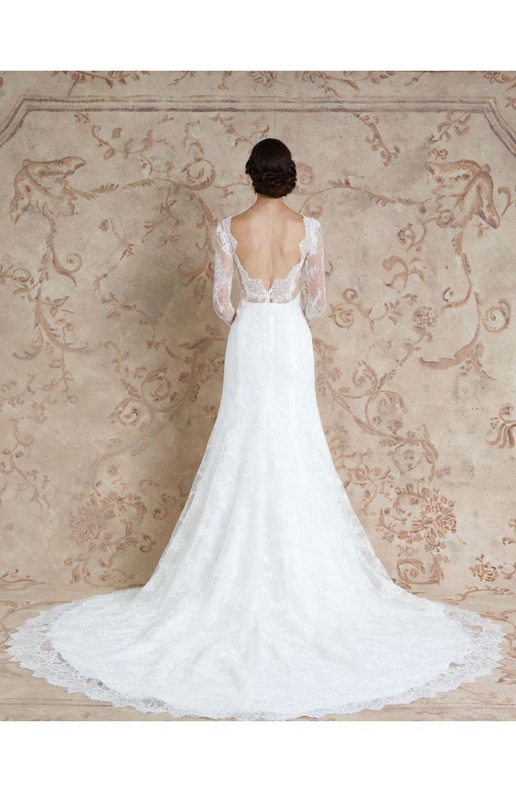 Miriam Lace Trumpet Bridal Gown || Long Sleeve Wedding Dress #weddingdress