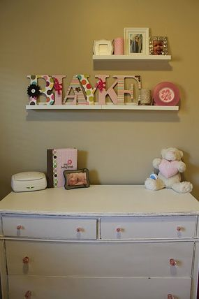 Girl nursery decorated on a budget