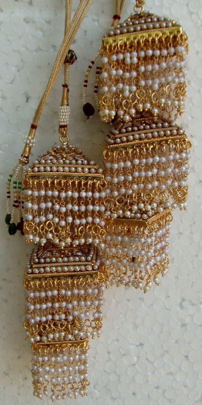 Indian wedding kalira set - Polki with pearl