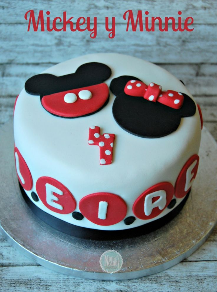 Mickey and Minnie's Cake