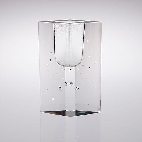 "TIMO SARPANEVA - Art glass sculpture ""Kohinor"" (h. 25 cm) for Iittala 1983, Finland."