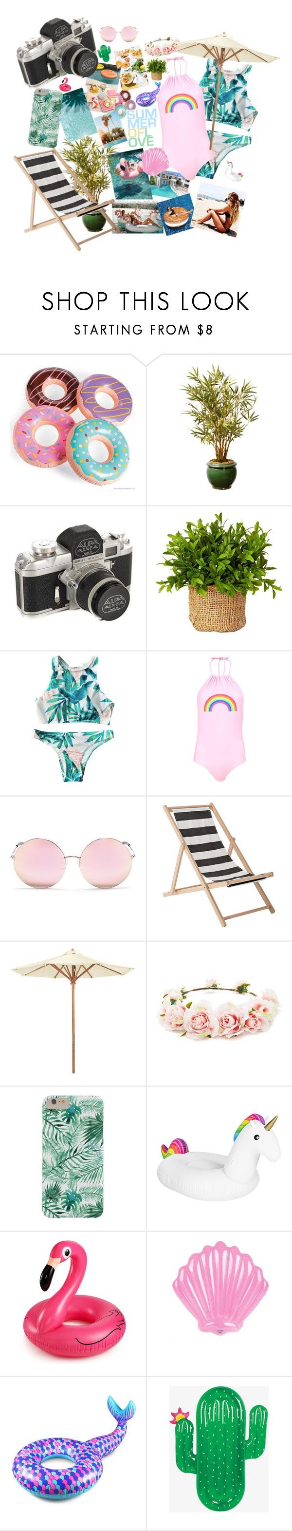 """""""Summer is the meaning of love for ME"""" by jannamariahmacaraeg ❤ liked on Polyvore featuring Boohoo, Matthew Williamson, Bloomingville, Ballard Designs, Forever 21, Big Mouth and West Elm"""
