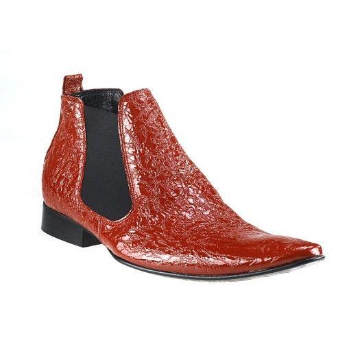 Pánske členkové topánky červené - fashionday.eu