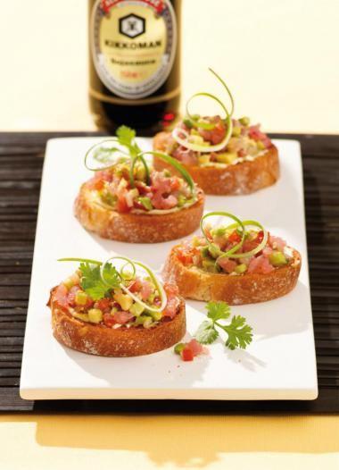 Bruschetta met tonijn-avocadotartaar