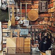 Kitchen/IKEA/DIY/スチールラック/賃貸/アカシア食器...などのインテリア実例 - 2014-12-05 10:35:48