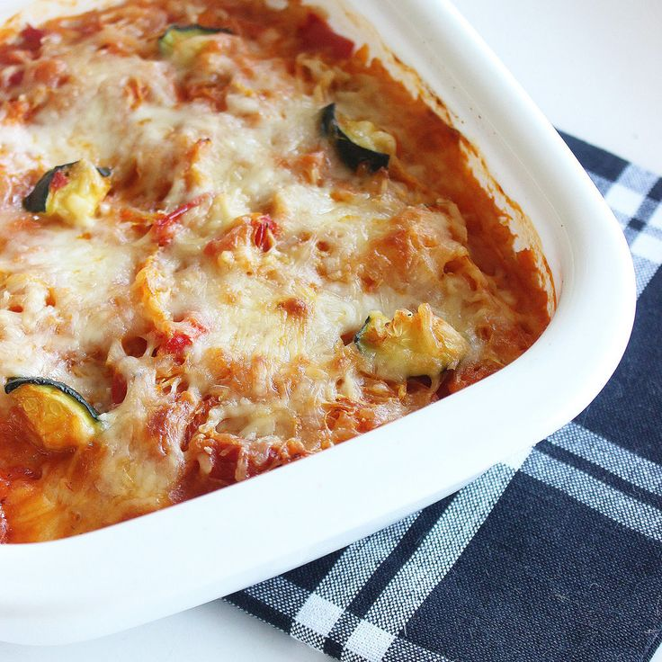Using a mix of veggies like zucchini, spaghetti squash, and other veggies instead of penne means you can lo...