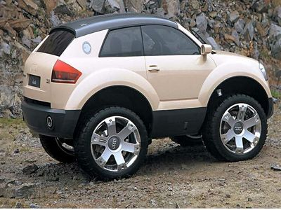 A tiny version of an Audi SUV click to see other mini versions of cool cars.