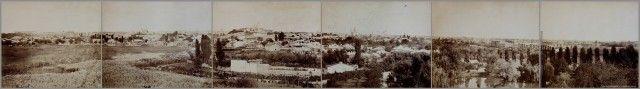 Bucurestiul lui Cuza intr-o imagine panorama realizata de pictorul si fotograful Carol Pop de Szathmari.