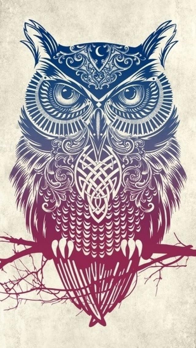 Tribal Owl Wallpaper For IPhone 5 #21104 Wallpaper | CamLib.