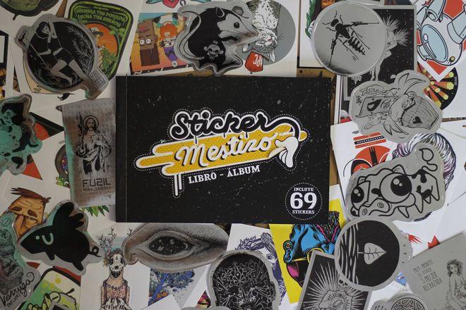 El libro album Sticker Mestizo está en Chile