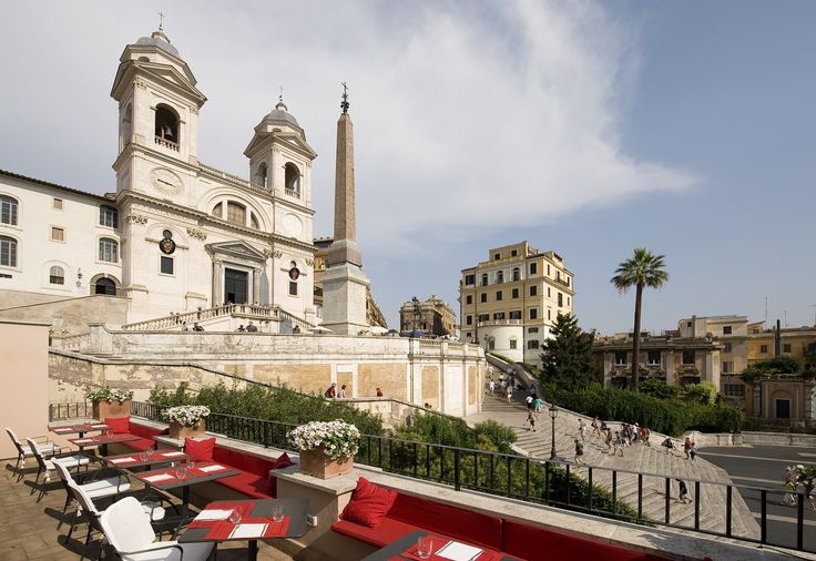 CULTURE INDULGENCE  Il Palazzetto, Rome, Italy via @smithhotels. What I wouldn't give to have a gelato while gazing at the Trevi Fountain! #holtspintowin