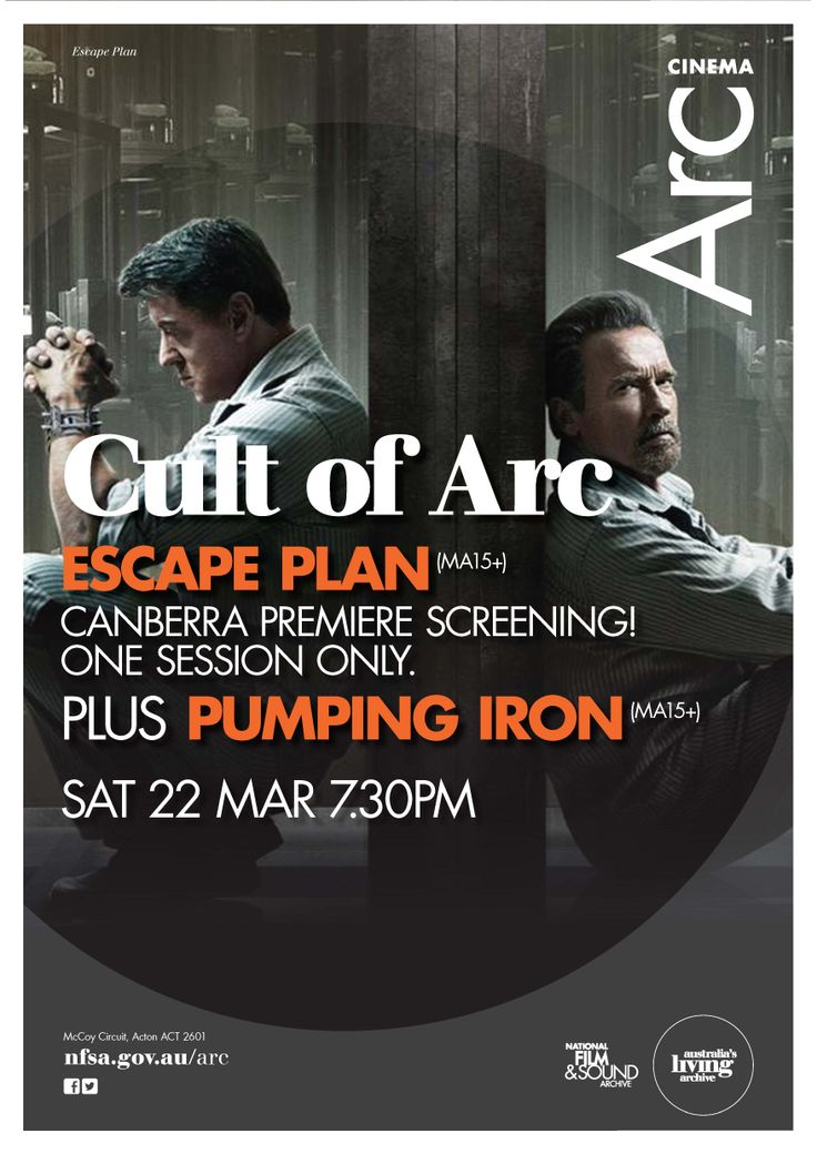 Sylvester Stallone and Arnold Schwarzenegger's new film ESCAPE PLAN has the first of only two #Canberra screenings at #ArcCinema on 22 March. Unreleased cinematically in Australia, this is a rare chance to see it on the big screen.