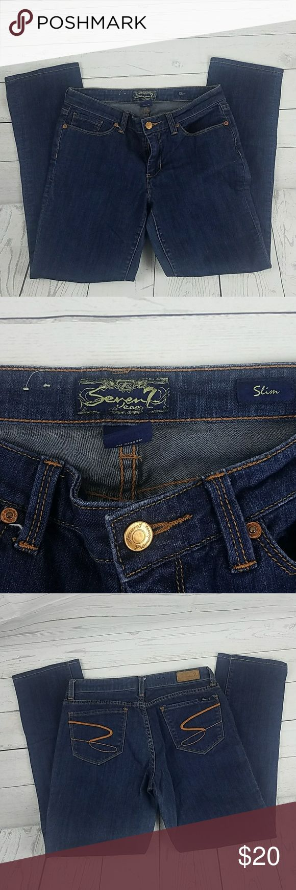 Seven7 Jean's Slim Size 29 Good condition. Gently Worn.  Inseam 28 Rise 8 Waist 14 inches Seven7 Jeans Skinny