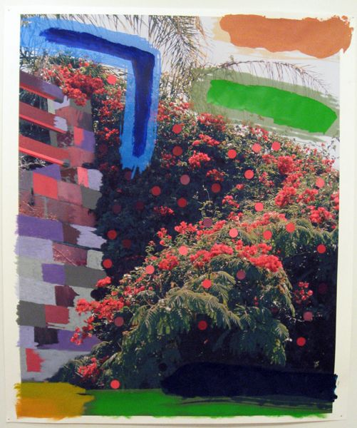 Sam Falls (2 solos), Judy's Room, acrylic and pastel on archival pigment print, 2010